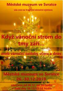 plakát -vánoční výstava 2019